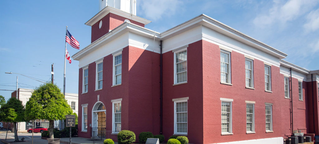 Main brick building at Vance-Granville Community College.