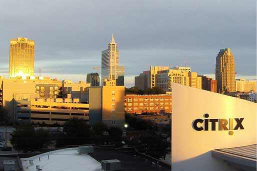 The new Citrix building in downtown Raleigh. The Citrix building is now a part of the prominent Raleigh skyline.
