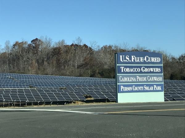 A solar farm in Person County.