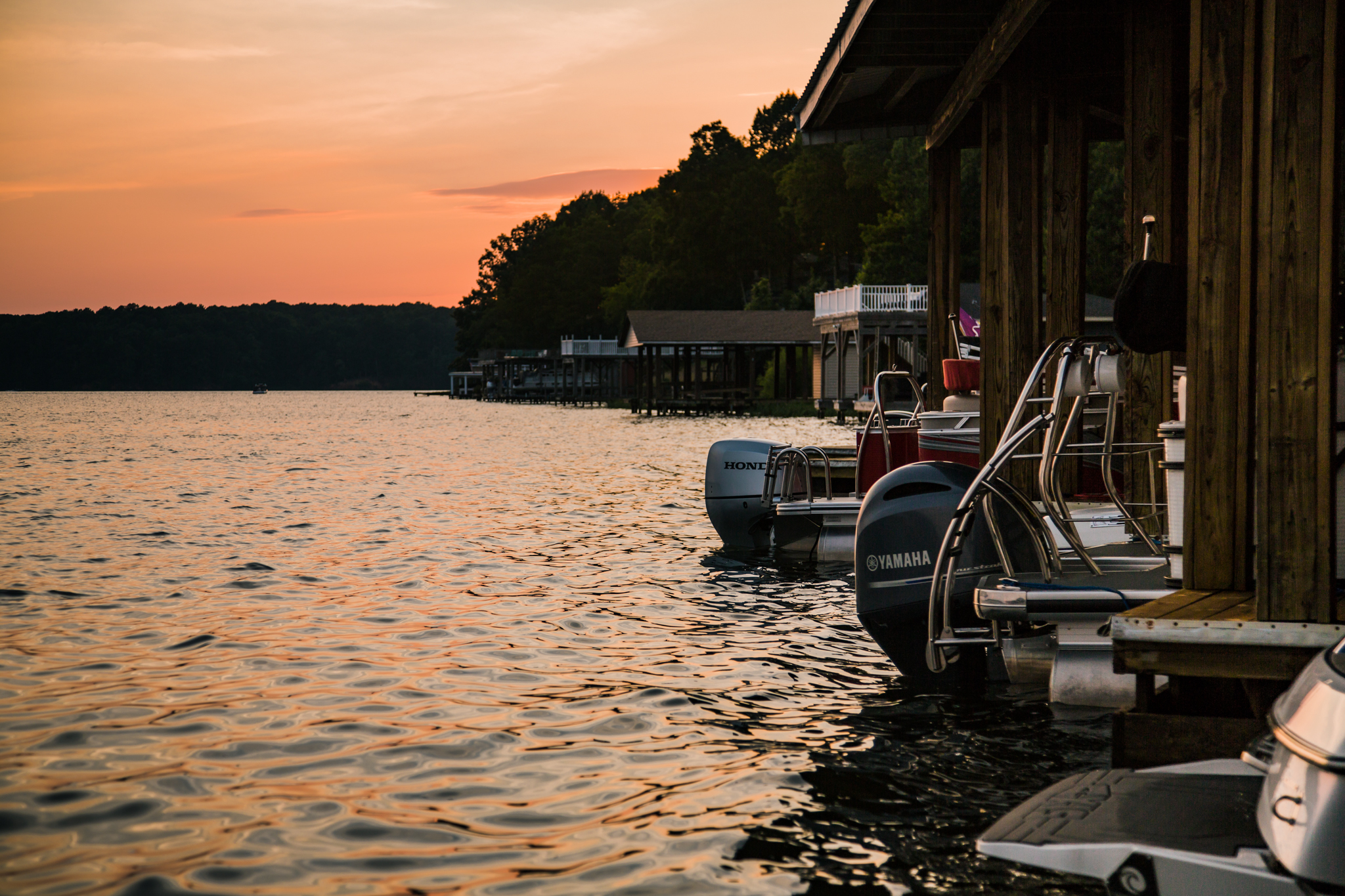 Boats at a dock in Warren County NC