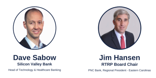 Dave Sabow of SVB and Jim Hansen, RTRP Board Chair