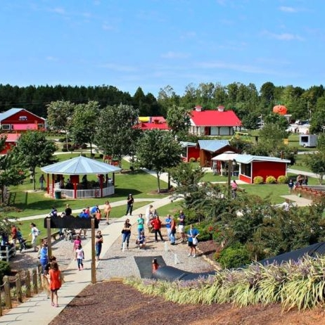 Outdoor park in Granville County with residents and visitors enjoying a sunny afternoon.